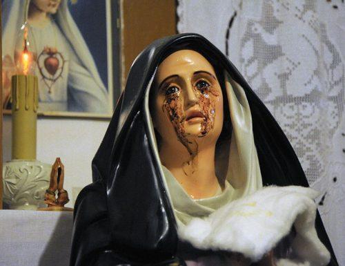 La Madonna di Giampilieri piange sangue!